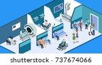 isometric 3d vector... | Shutterstock .eps vector #737674066
