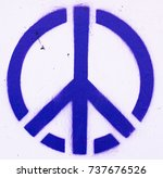 Peace symbol printed on wall
