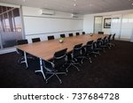 interior of empty modern board... | Shutterstock . vector #737684728
