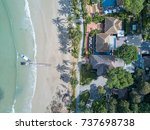 top view of houses on the palm... | Shutterstock . vector #737698738