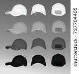 baseball cap. vector... | Shutterstock .eps vector #737704405