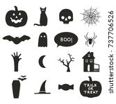 halloween icons | Shutterstock .eps vector #737706526