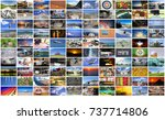 big multimedia video and image... | Shutterstock . vector #737714806