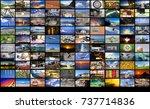 big multimedia video and image... | Shutterstock . vector #737714836