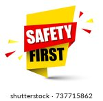 banner safety first | Shutterstock .eps vector #737715862