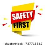 banner safety first   Shutterstock .eps vector #737715862