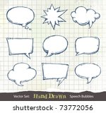 set of hand drawn speech... | Shutterstock .eps vector #73772056