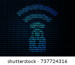 the key reinstallation attack ... | Shutterstock .eps vector #737724316