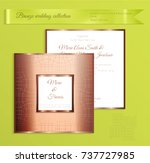 luxury bronze shiny wedding... | Shutterstock .eps vector #737727985