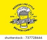 beer logo   vector illustration ...