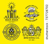 set beer logo   vector... | Shutterstock .eps vector #737728702