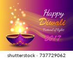 happy diwali festival of lights ... | Shutterstock .eps vector #737729062