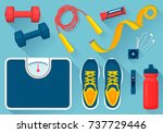 convenient equipment for... | Shutterstock .eps vector #737729446