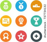origami corner style icon set   ... | Shutterstock .eps vector #737734132