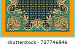 design for square pocket  shawl ... | Shutterstock .eps vector #737746846