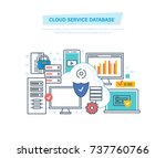 cloud service database.... | Shutterstock .eps vector #737760766