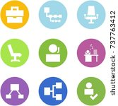 origami corner style icon set   ... | Shutterstock .eps vector #737763412