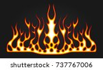 blazing fire decals for the... | Shutterstock .eps vector #737767006