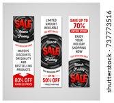 set of black friday sale...   Shutterstock .eps vector #737773516