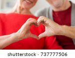 relationships  love and old... | Shutterstock . vector #737777506