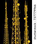 telecommunication tower... | Shutterstock .eps vector #737779966