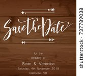 save the date card  wedding... | Shutterstock .eps vector #737789038