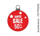 christmas sale banner  sales... | Shutterstock .eps vector #737790202