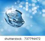 abstract blue news vector with... | Shutterstock .eps vector #737796472