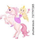 stars princessand beautiful... | Shutterstock . vector #737797285