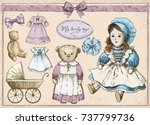"hand drawn vector set ""my...   Shutterstock .eps vector #737799736"