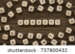 word disrupt made with wood... | Shutterstock . vector #737800432