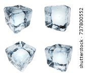 drink ice cubes isolated on... | Shutterstock . vector #737800552
