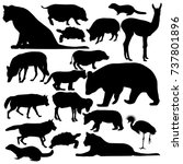 collection of vector...   Shutterstock .eps vector #737801896
