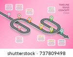 isometric navigation map... | Shutterstock .eps vector #737809498