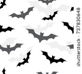 seamless pattern with bats for... | Shutterstock .eps vector #737830648