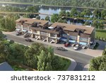 boarding house by the river ... | Shutterstock . vector #737831212