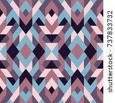 mosaic seamless texture. vector ... | Shutterstock .eps vector #737833732