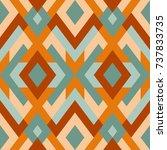 mosaic seamless texture. vector ... | Shutterstock .eps vector #737833735