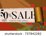 sale advertisement banner on... | Shutterstock .eps vector #737842282