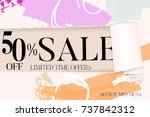 sale advertisement banner on... | Shutterstock .eps vector #737842312