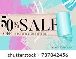 sale advertisement banner on... | Shutterstock .eps vector #737842456