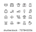 clothing icon set  outline style | Shutterstock .eps vector #737843356