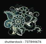 flower pattern bright abstract... | Shutterstock .eps vector #737844676