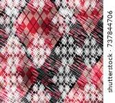 seamless pattern argyle design. ... | Shutterstock . vector #737844706