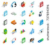 right icons set. isometric set... | Shutterstock . vector #737854396