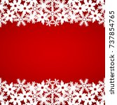 christmas red background with... | Shutterstock .eps vector #737854765
