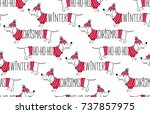 Holidays Seamless Pattern With...