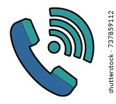 phone service with wifi waves | Shutterstock .eps vector #737859112