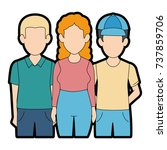 people casual avatars characters | Shutterstock .eps vector #737859706