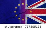 flags of the united kingdom and ... | Shutterstock . vector #737865136